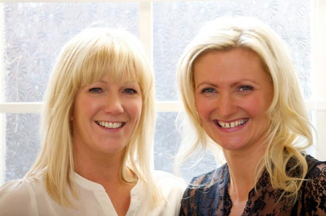 Lesley Davies and Davenham's Katie Webster from Lace Bridal
