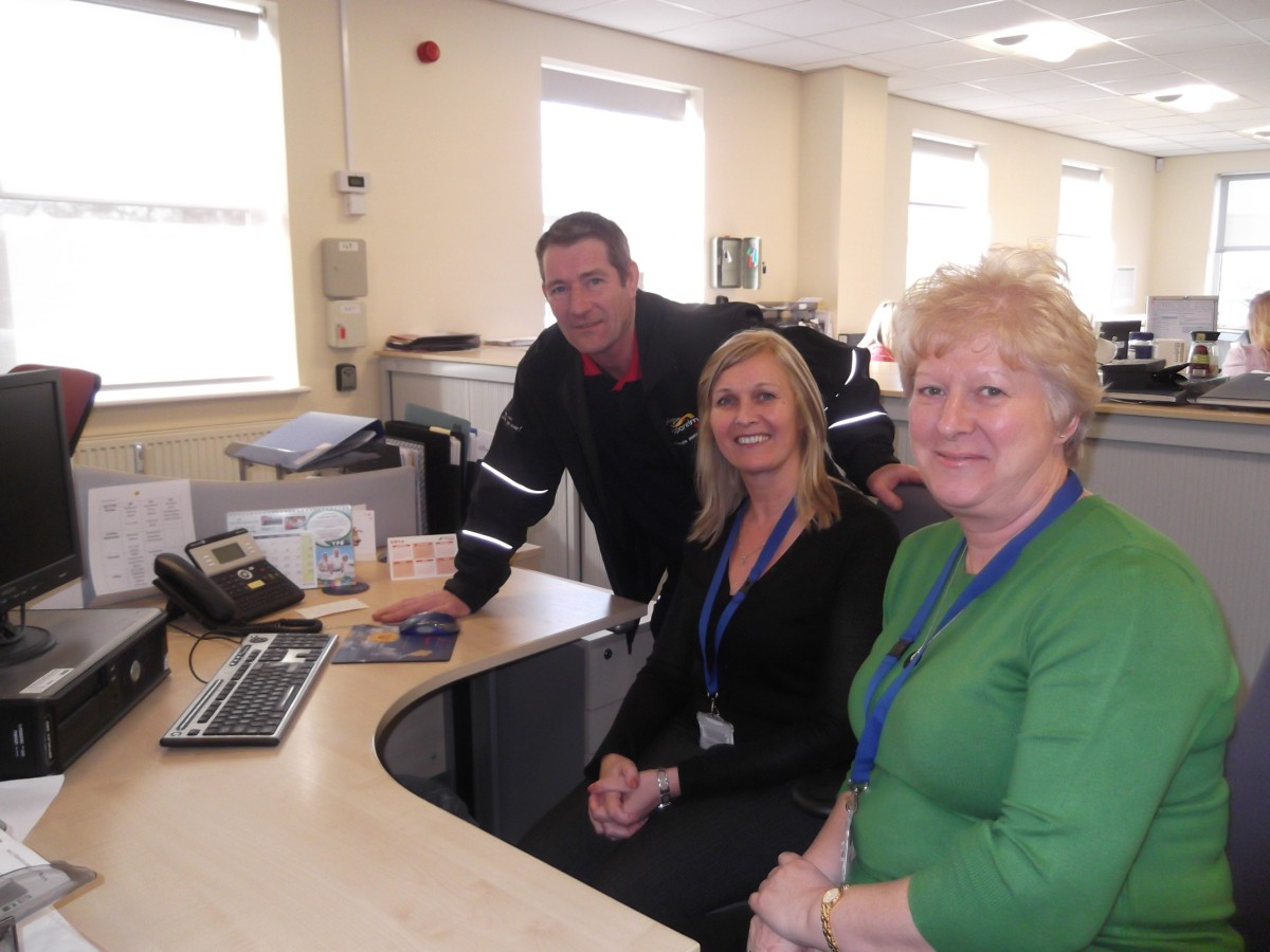 Tony Webster with Jayne Puller and Christine Gould from the WVHT Work and Enterprise Team.