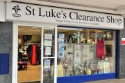 St Luke's Hospice charity shop in Fountain Court Winsford.