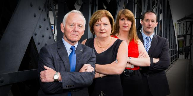 From left, Gerard Rooney, Mosshaselhurst, Diane Johnson, Eric Johnson of Northwich, Claire Morley, NatWest, Chris Smith, Howard Worth.Photograph by Andrew Collier Photography.