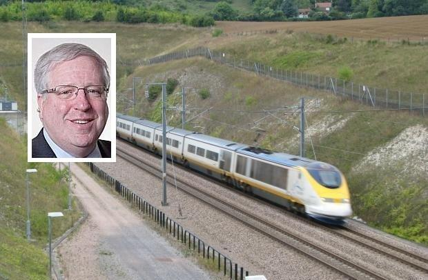 Patrick McLoughlin (inset) visited Crewe to discuss the HS2 project