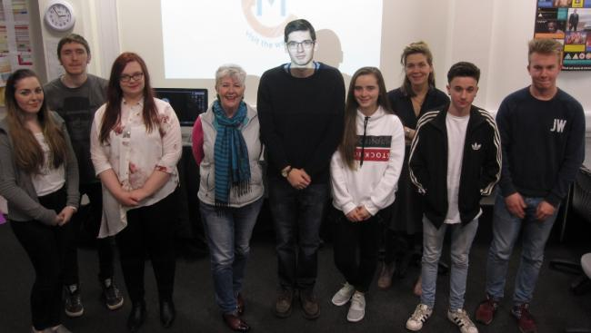 Students with Eilidh Milnes and Tutor Emma Walters