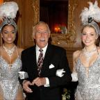 Winsford Guardian: Bruce Forsyth joined by Miss Puerto Rico (left) and Miss England to celebrate his 80th birthday at the Dorchester Hotel (Anthony Devlin/PA Wire/PA Images)