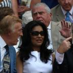 Winsford Guardian: Bruce Forsyth (left), his wife Wilnelia and Jimmy Tarbuck (right) during Day Three of the 2010 Wimbledon Championships at the All England Lawn Tennis Club, Wimbledon (PA)