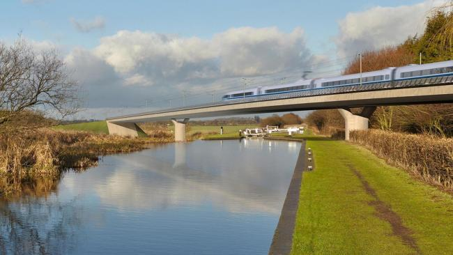 An artist's impression of what HS2 could look like