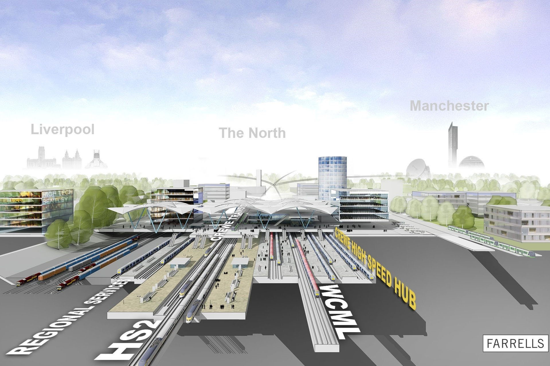 An artist's impression for the proposed Crewe hub