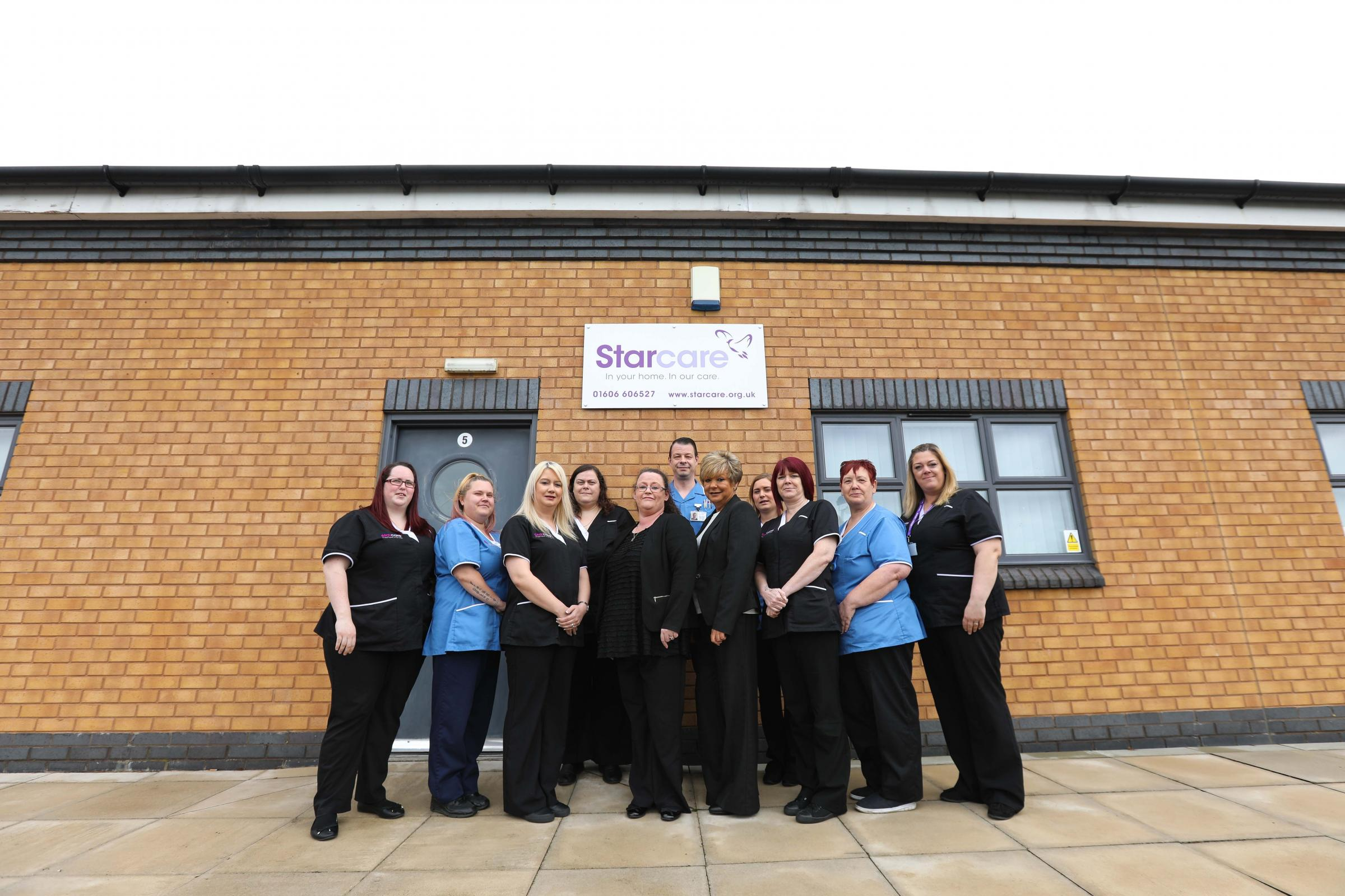 The Starcare team from Winsford with the managing director and owner Paula Pedlow, in centre