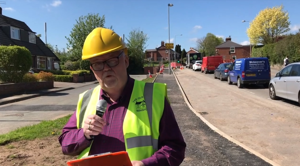 Landlord of the Old Star pub, Ernie Welch, made a video about the ongiong roadworks