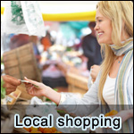 Local shopping and retail features and supplements