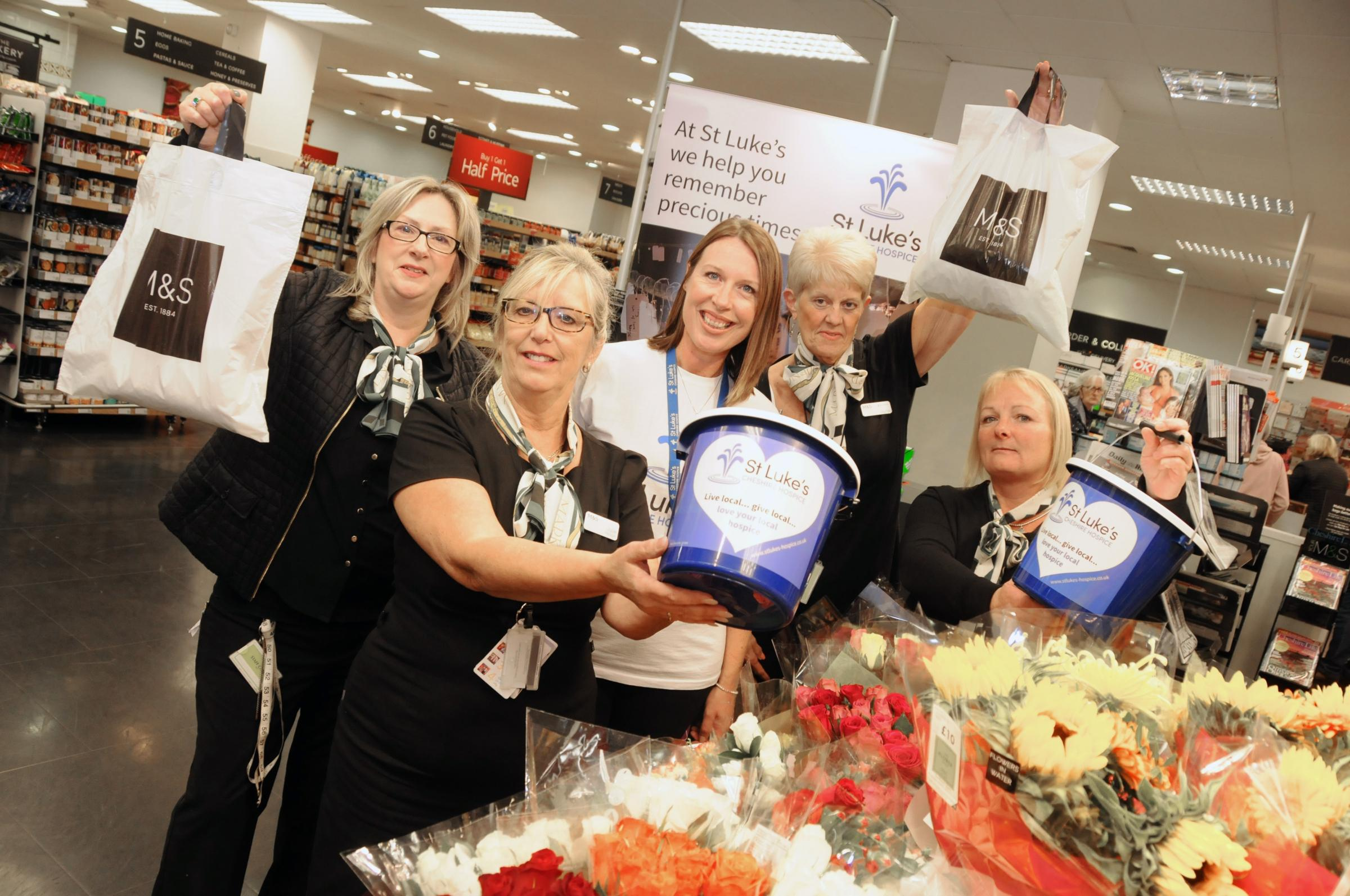 Northwich Marks and Spencer staff raise thousands for St Luke's Hospice