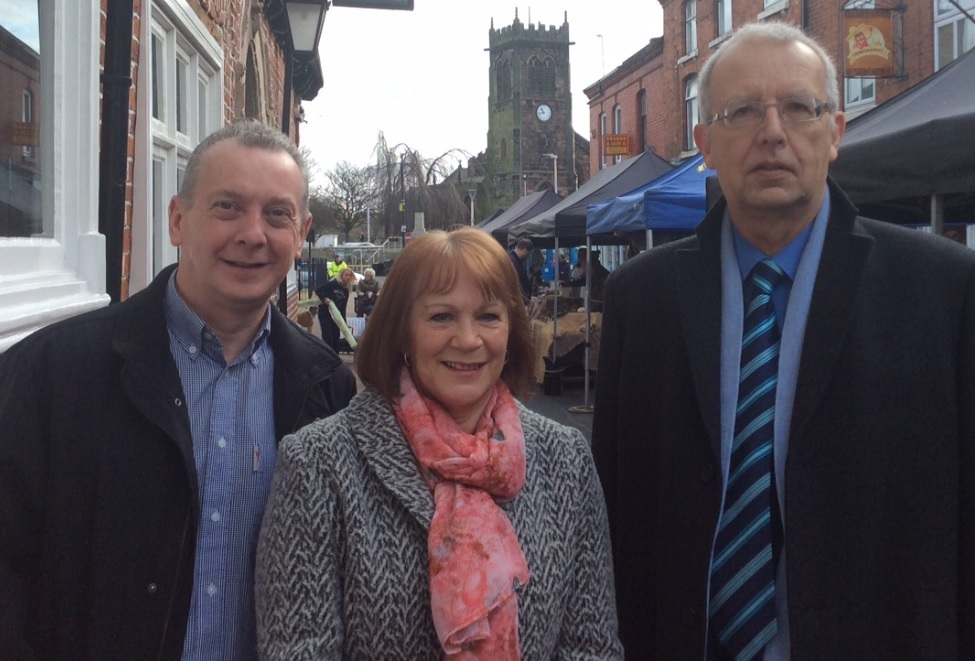 Middlewich First councillors Simon McGrory, Bernice Walmsley and Mike Parsons