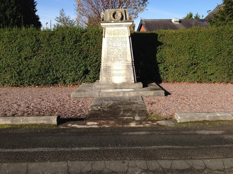 The heritage trust is hopint to repair the First World War memorial in Brooks Lane