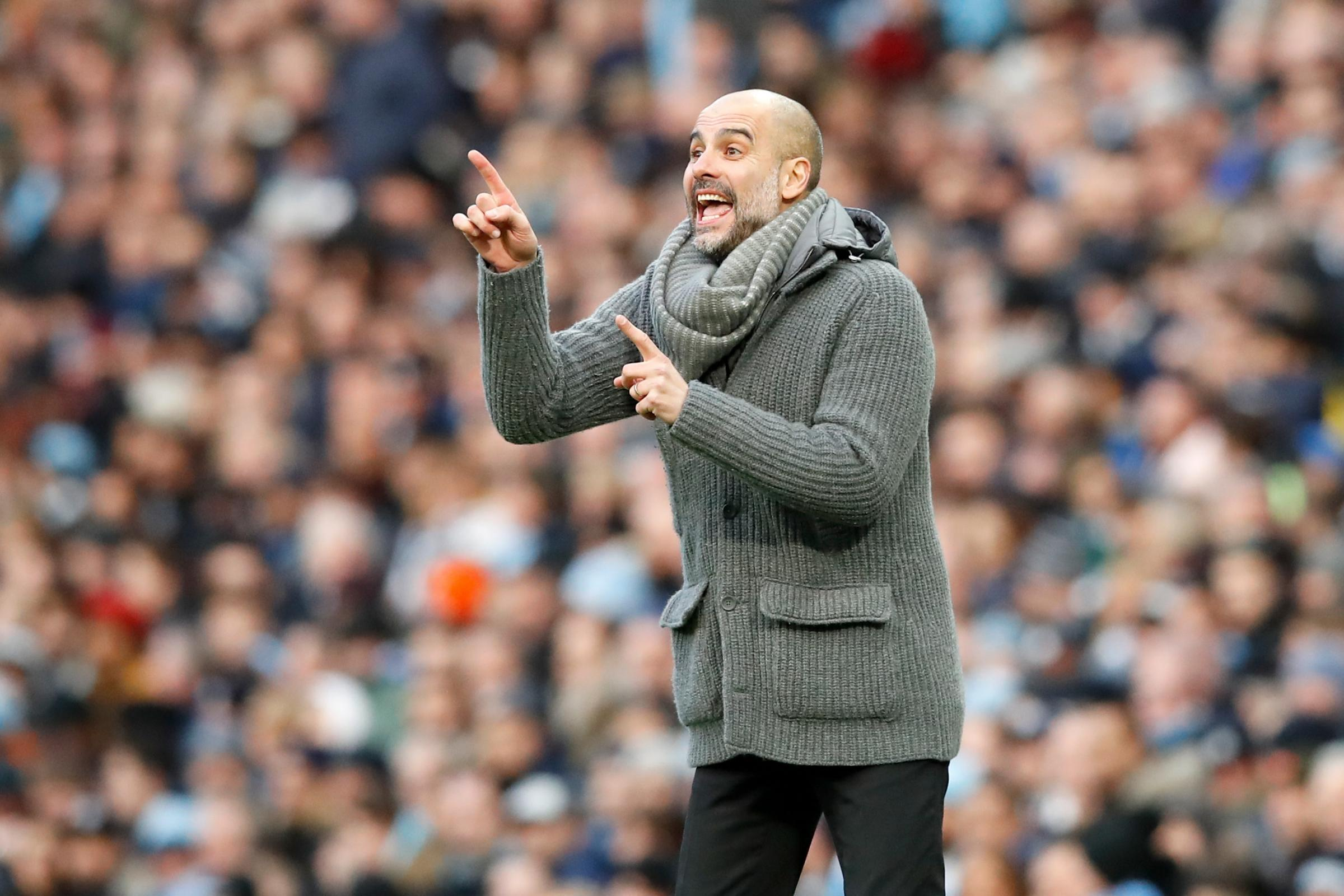 Pep Guardiola hailed his side after they returned to top spot in the Premier League