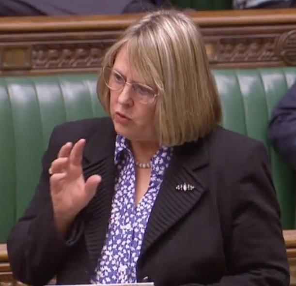 MP Fiona Bruce speaking in Parliament