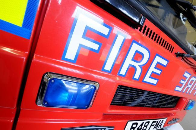 Fire at football stadium in Winsford