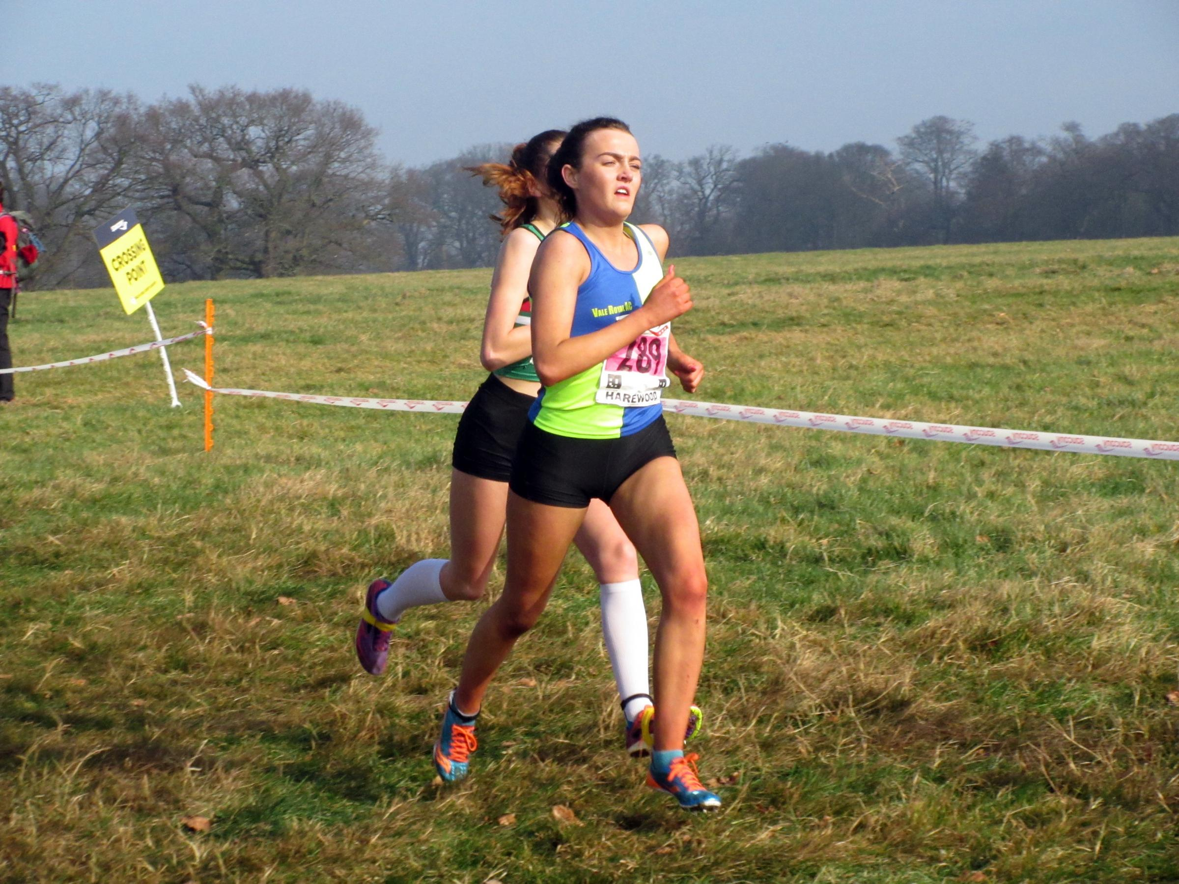 Holly Smith showed her consistency to finish sixth in the under 17s girls' race at the English National Cross Country Championships. She was fourth in the same category last year. Picture: Rob Brown/Vale Royal AC