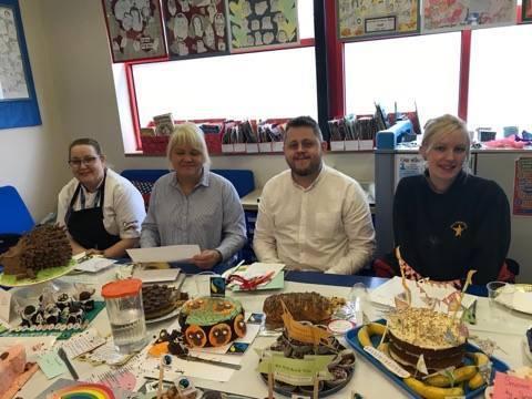 Imaginative Children Create Cakes In A School Bake Off