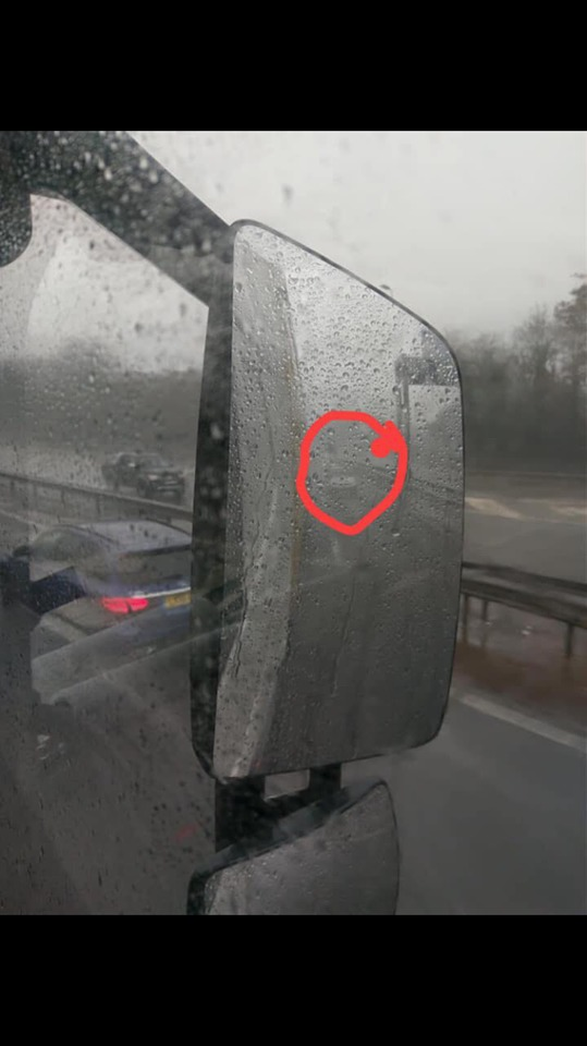 Lorry driver shares headlights warning ahead of more stormy weather. Pic credit: NW Motorway Police