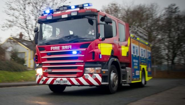 Firefighters tackle skip fire in Dene Drive,  Winsford