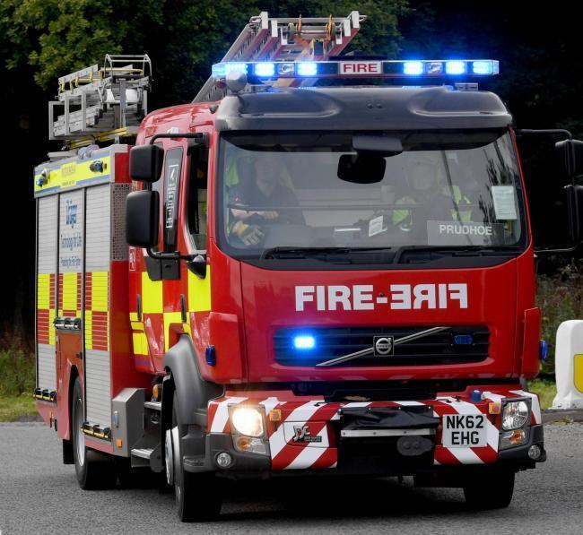 Firefighters tackle industrial skip fire in Winsford