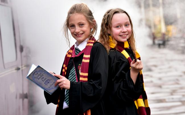 Kori Hirst and Summer Patten both aged nine during a Wizarding day at The East Lancs Railway, Bury