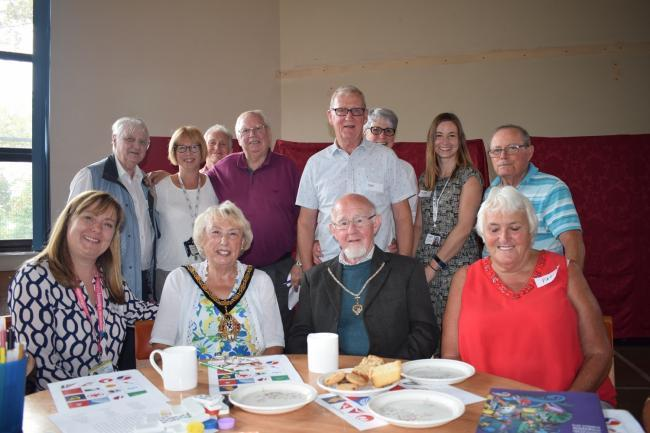 The mayor of Winsford Cllr Gina Lewis and husband Denis visited the Dementia Cafe last year