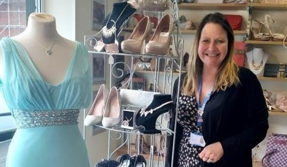 ca6cd33c1ffa9 Teenagers amazed to look a million dollars in pre-loved prom dresses. By  Barbara Jordan Senior reporter. Carol Heath, manager of St Luke's Hospice  shop in ...