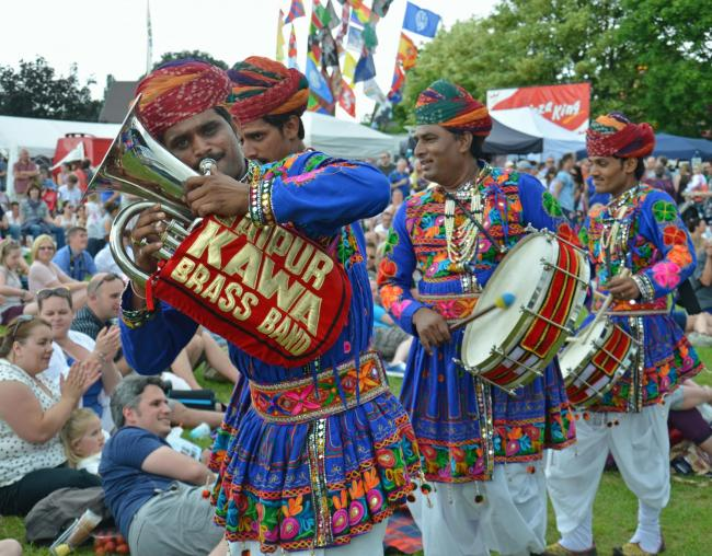 The Rajasthan Brass Band will lead the FAB parade at 11am on the Saturday with street artists and morris dancers Picture:Bare Bones Marketing
