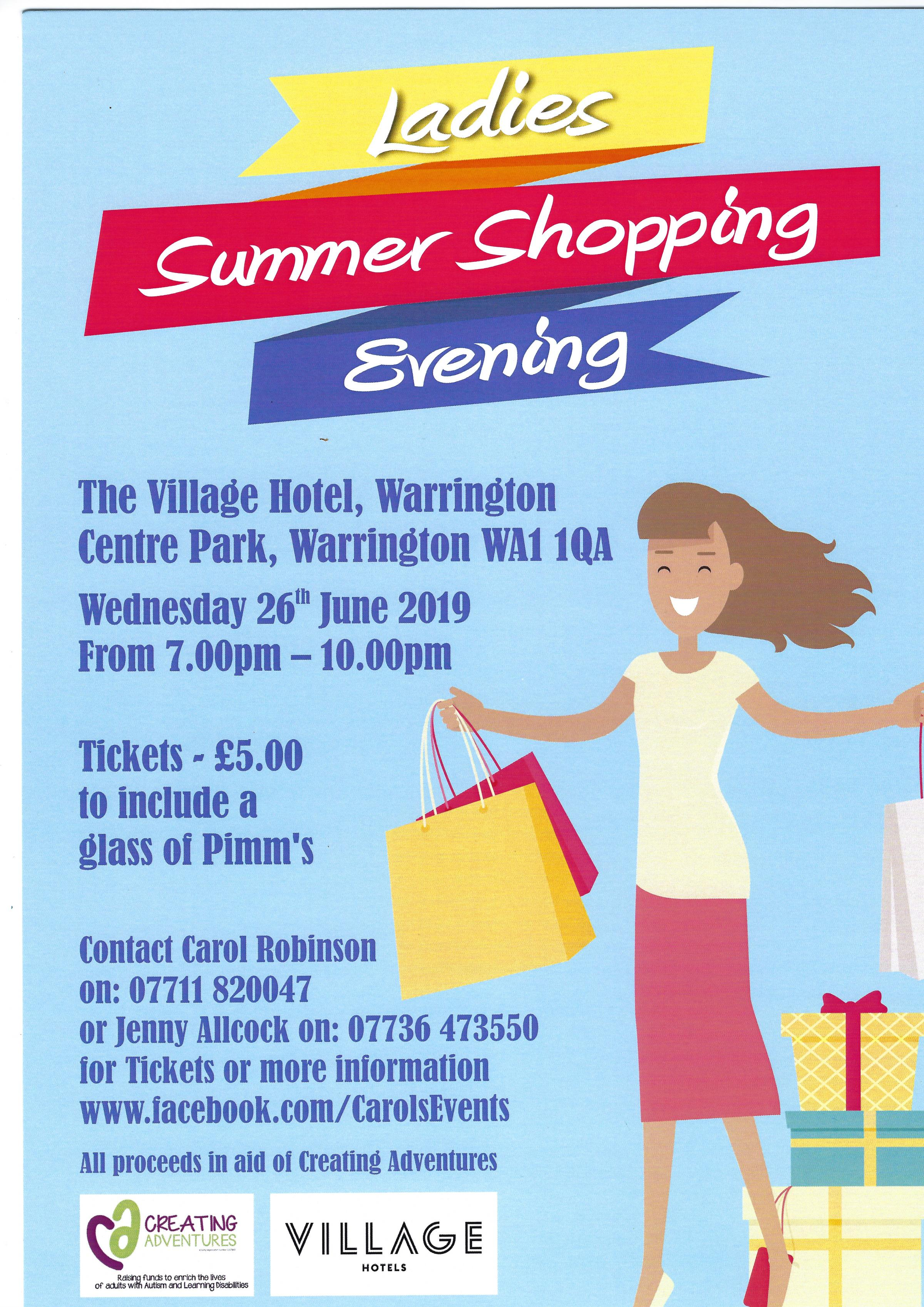 Charity Ladies Summer Shopping Evening
