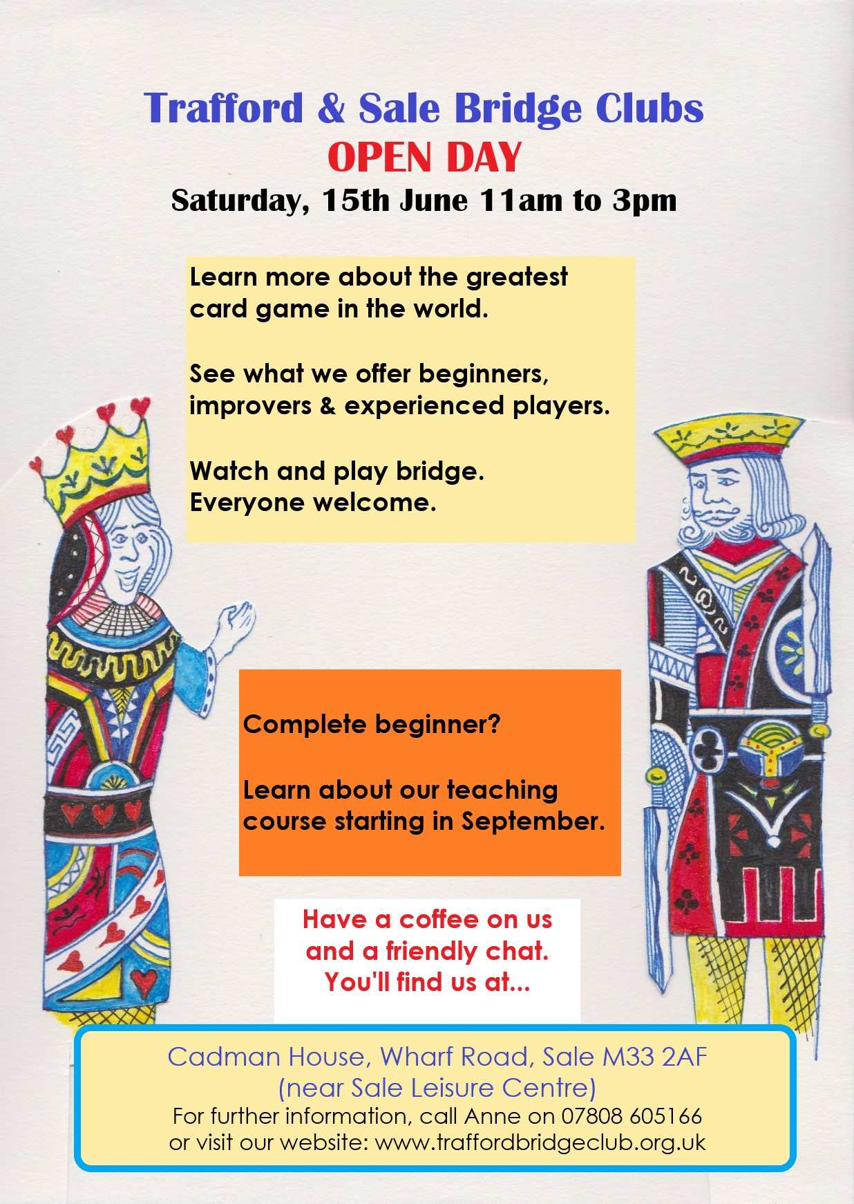 Trafford and Sale Bridge Club Open Day