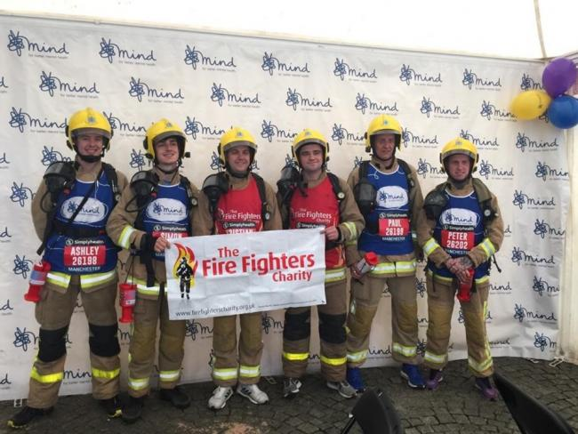 Ashley Powell, Paul Leigh, Simon Calvert, Peter Daniel, Kristian Clowes and Connor Sweetman have raised £2,000 for charity