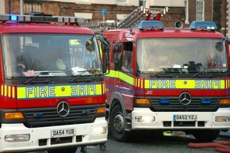 Firefighters tackle fire in electric plant room in Brooks Lane, Middlewich
